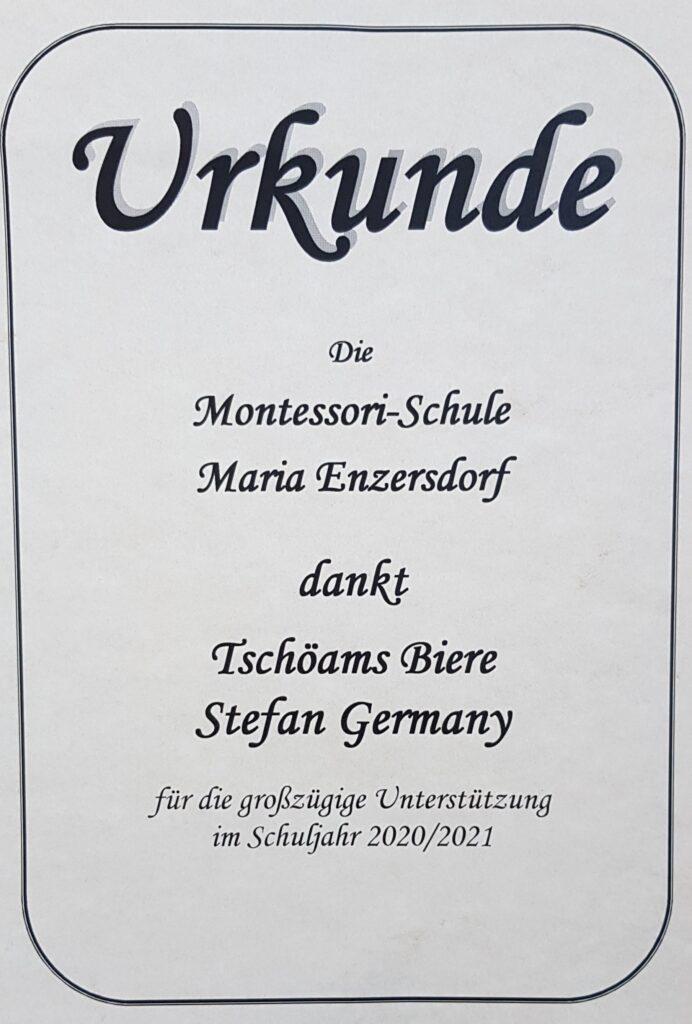2021 01 22 Unterstützung der Montessorischule Maria Enzersdorf